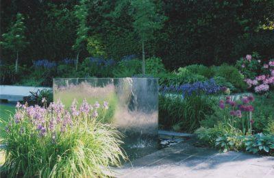 A modern garden in Brighton.