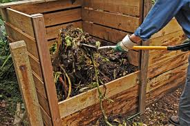 Turning compost