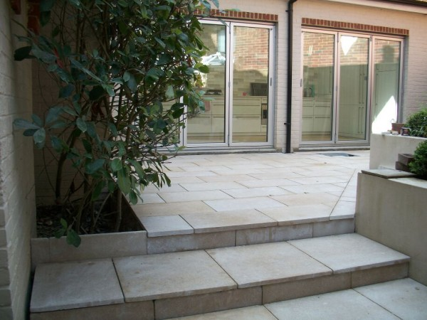 Aspect of the court yard garden designed and landscaped by Arcadia garden Design in Hove, E. Sussex