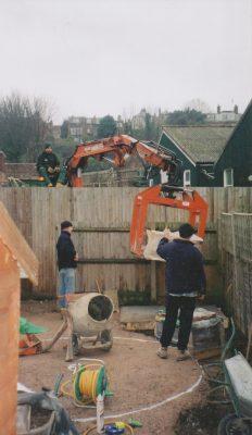 Landscaping a family garden