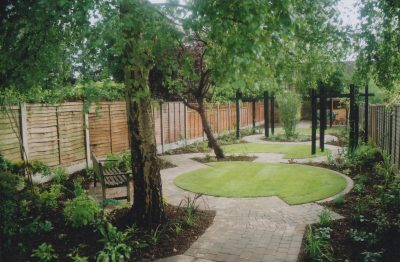 Landscaping has just been completed on this town garden in Horsham
