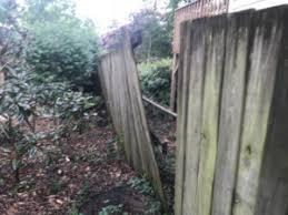falling down fences