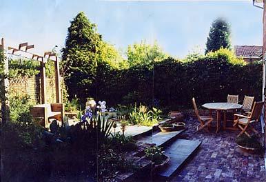 A small modern garden