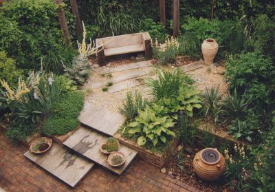Small court yard garden. Lindfield