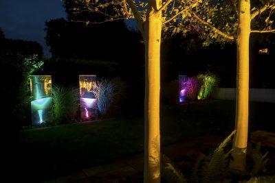 Lighting the winter garden