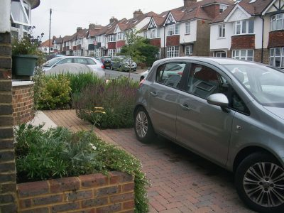 parking with a front garden